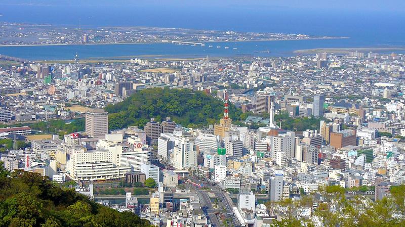 眉山から見る徳島の景色