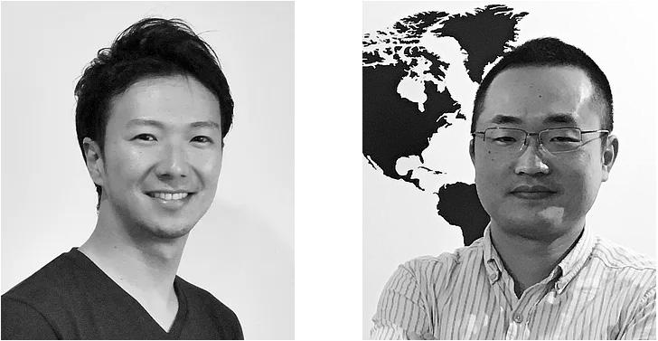 近藤社長(左)最高技術責任者坂東氏(右)